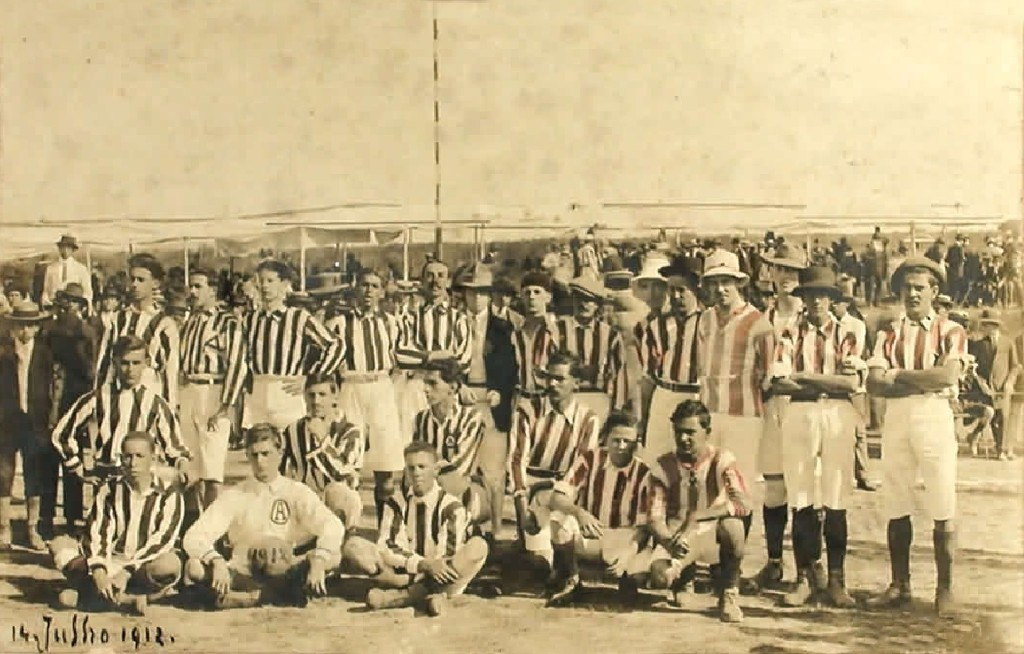 Villa Nova x Atlético em 14 de julho de 1912