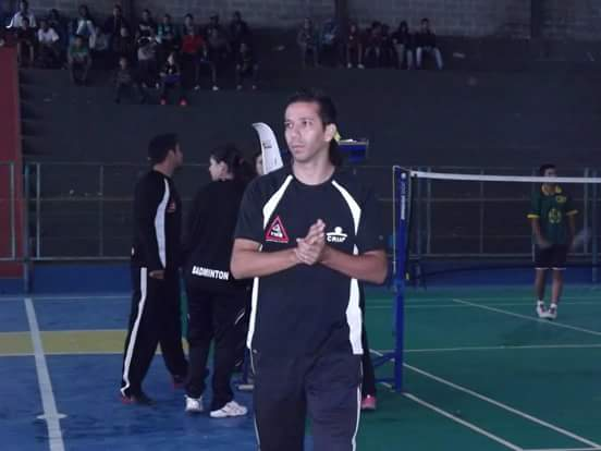 Daiverson Ferrari é um dos organizadores do JF Open de Badminton (Foto: Walter Moraes)