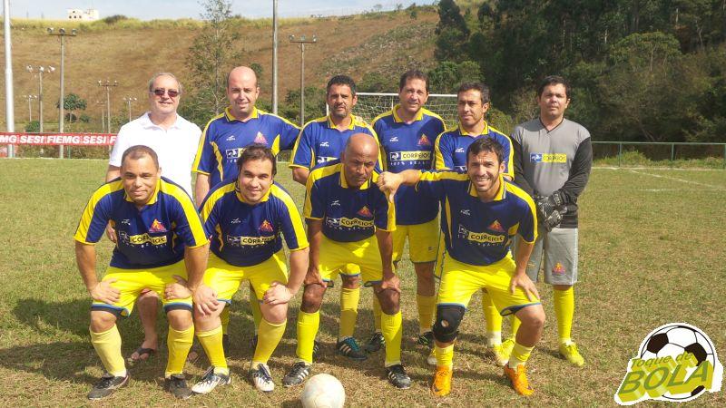 Equipe de futebol sete master dos Correios nos Jogos Sesi Fase Municipal de Juiz de Fora
