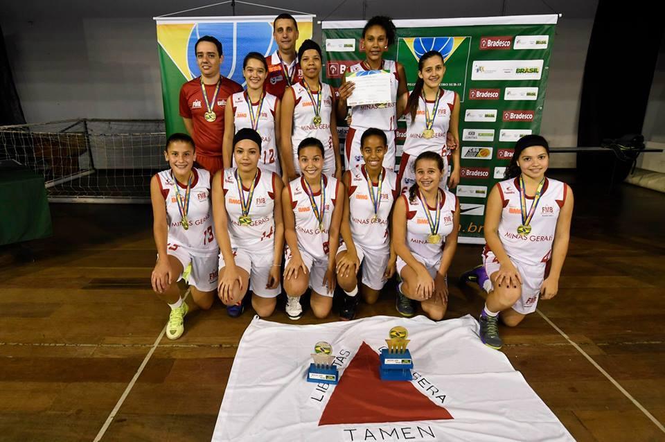 Seleção Mineira campeã brasileira sub-15 (Foto: William Lucas/InovaFoto/CBB)