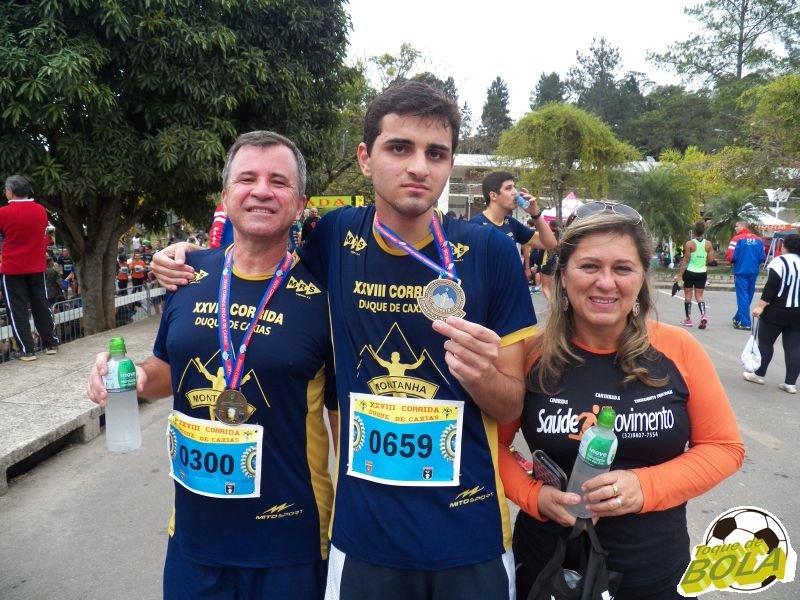 Família de corredores com Jasom, Willer e Ângela