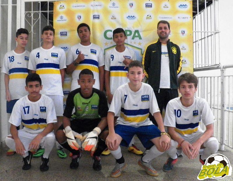 AABB sub-15 teve na equipe Caio, David, Victor, Jackson, Murilo, Enzo e Thulio