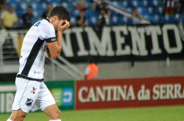 O ABC lutou na Fonte Nova, mas o empate em 2 a 2 confirmou a queda do time potiguar (Foto: Frankie Marcone/ABC FC)