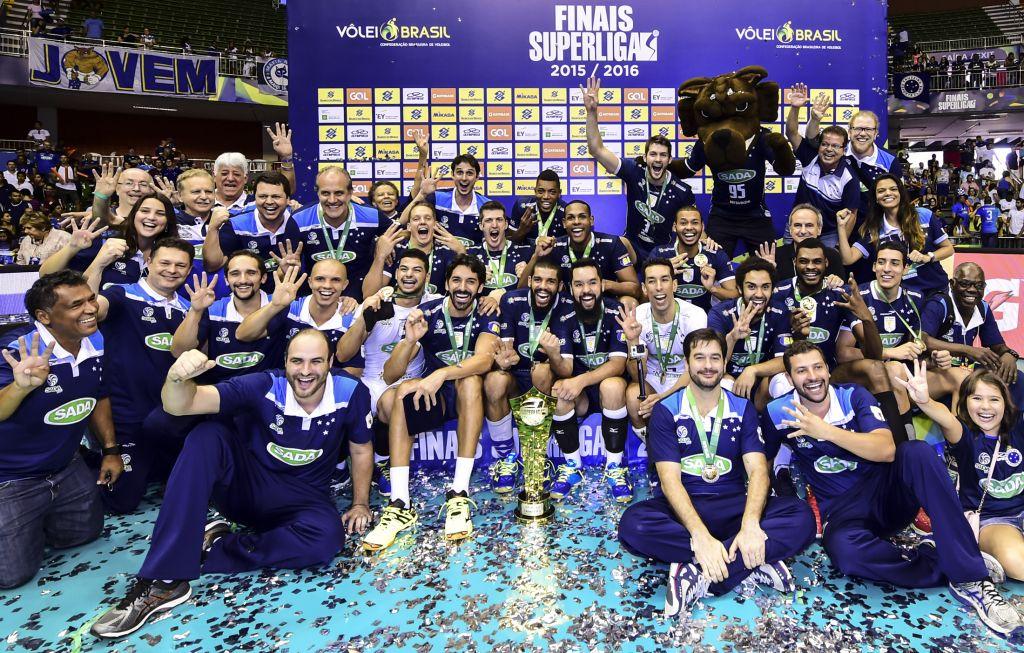 Sada Cruzeiro conquista o tetracampeonato da Superliga Masculina (Foto: Divulgação CBV)