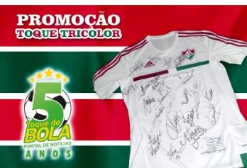 Toque de Bola lança nova promoção: camisa oficial e autografada do Fluminense. Saiba como concorrer