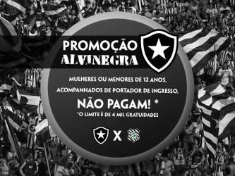 Botafogo x Figueirense em JF nesta 4ª: veja promoção anunciada pelo cube carioca e postos de venda