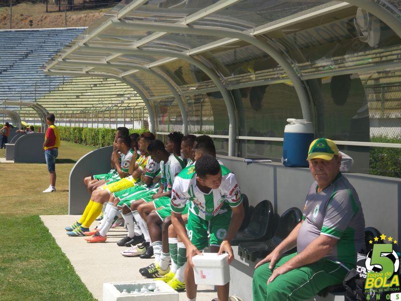 Banco de reservas do Sport no amistoso contra o Baeta, em 7 de setembro