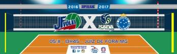 JF Vôlei recebe Sada Cruzeiro às 14h pela segunda rodada da Superliga