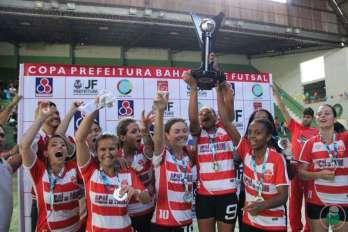 Esporte Clube Biquense: campeã Adulta Feminino da Copa Prefeitura Bahamas de Futsal 2017