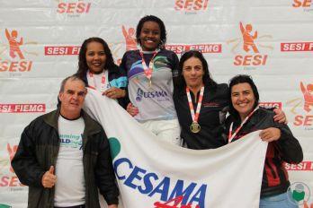 Cesama soma o maior número de pontos na natação feminina nos Jogos Sesi Juiz de Fora 2017