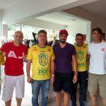 Leandro Ávila, Léo Beire, Athirson, Alexandre Campos (arbitragem) e Marcelo Leite