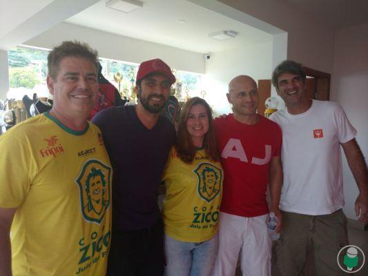 Léo, Athirson, Erika Beire, Leandro Ávila e Marcelo Leite