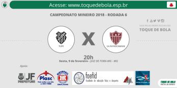 Tupi x Patrocinense sexta, às 20h: veja informações do jogo e da rodada do Mineiro