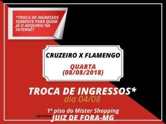Libertadores: loja oficial de JF troca ingressos de Flamengo x Cruzeiro