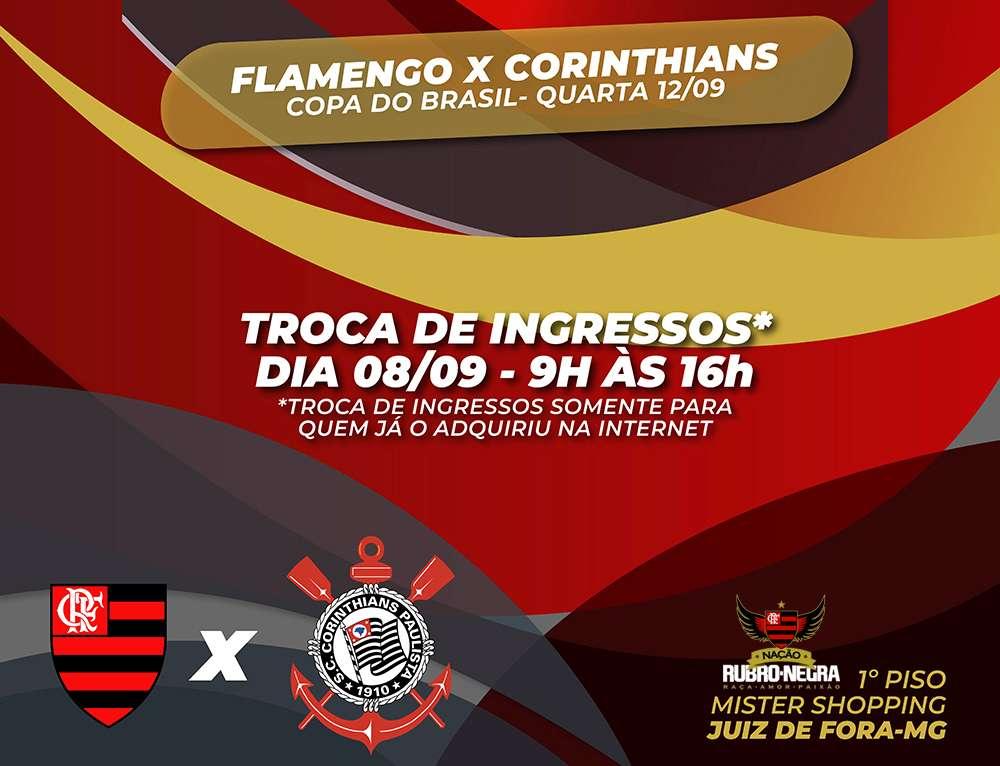 Loja do Fla em JF troca ingressos do jogo contra o Corinthians ... 996c93a657eb1