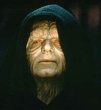 Emperor (formerly Senator, Chancellor) Palpatine from the STAR WARS films, portrayed by Ian McDiarmid.