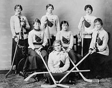 Queen's University Women's Hockey Team 1917