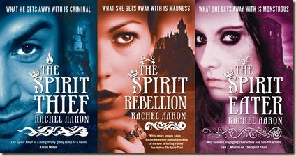 The Spirit novels Rachel Aaron covers