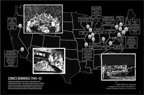 Bad For You comic book burnings map