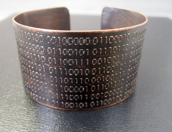 Binary Code Cuff by Karla Wheeler Design