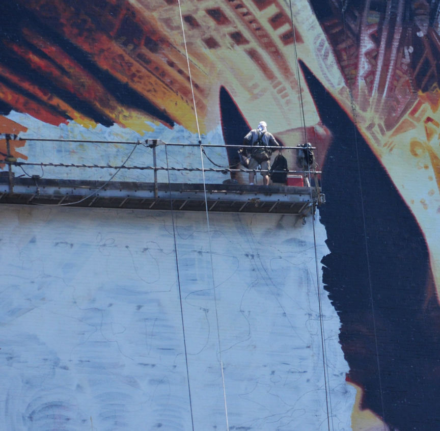 This Is How You Paint A 150 Foot Tall Batman Part 85