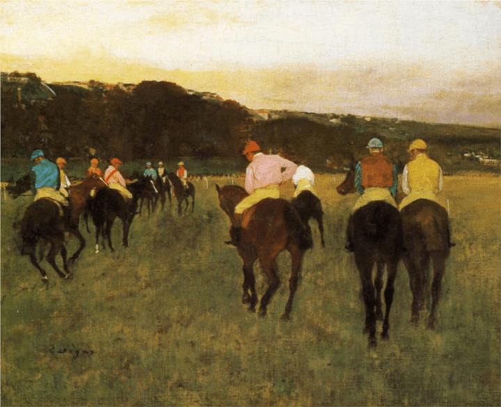 Degas Race Horses
