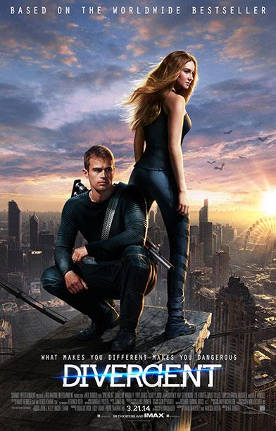 Divergent movie poster