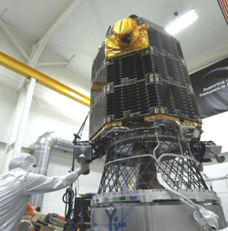 LADEE mounted on a vibration table for testing—NASA Ames