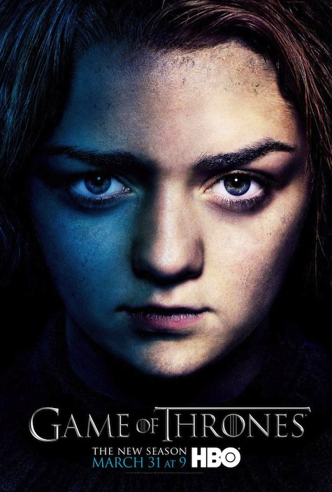 Game of Thrones season 3 character posters Arya