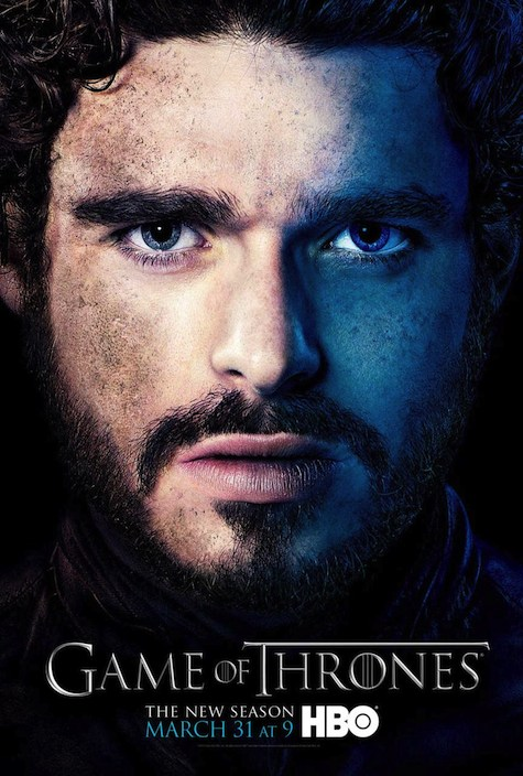 Game of Thrones season 3 character posters Robb Stark