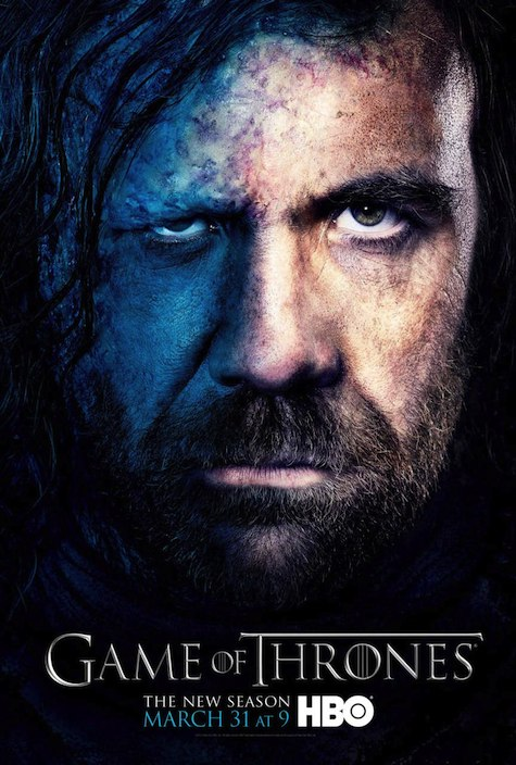 Game of Thrones season 3 character posters Sandor Clegane