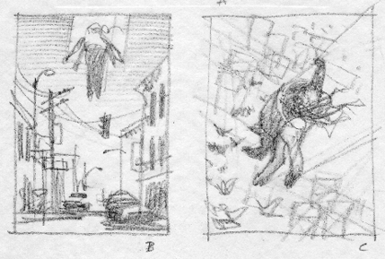 Greg Manchess sketches for The Starship Mechanic