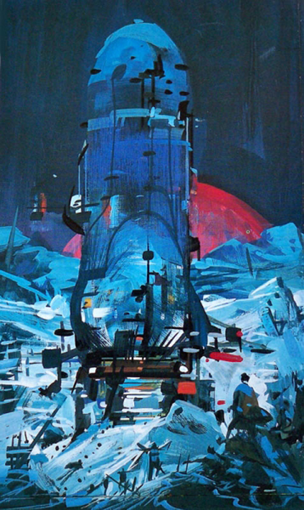 John Berkey, The Humanoid Touch sketch