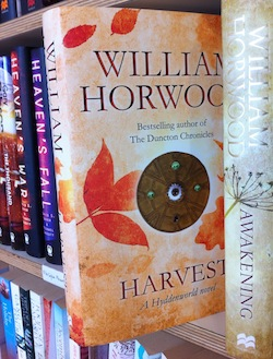 Harvest by William Horwood with foil on front and spine