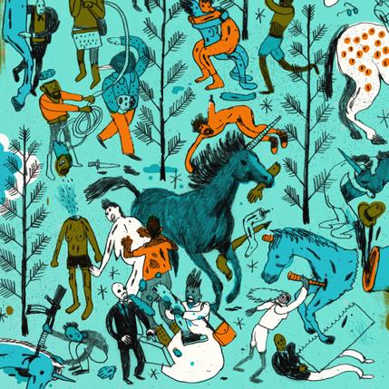 Josh Cochran cover for Zombies Vs Unicorns