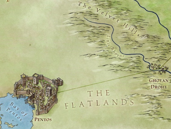 New Song of Ice and Fire map of Pentos from Bantam Books' forthcoming The Lands of Ice and Fire