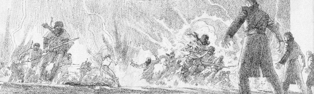 Greg Manchess' Lord of Chaos ebook cover sketch