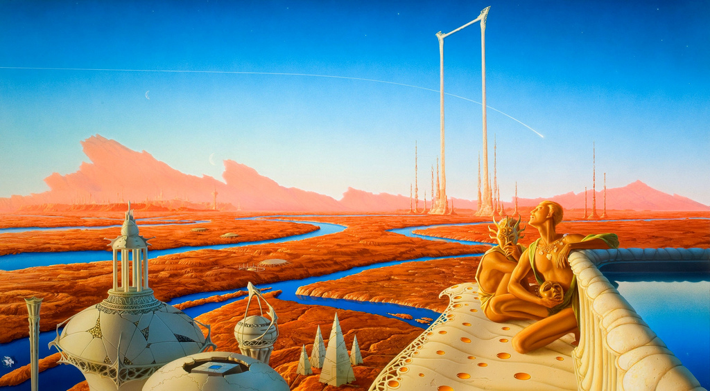 Michael Whelan's The Martian Chronicles.