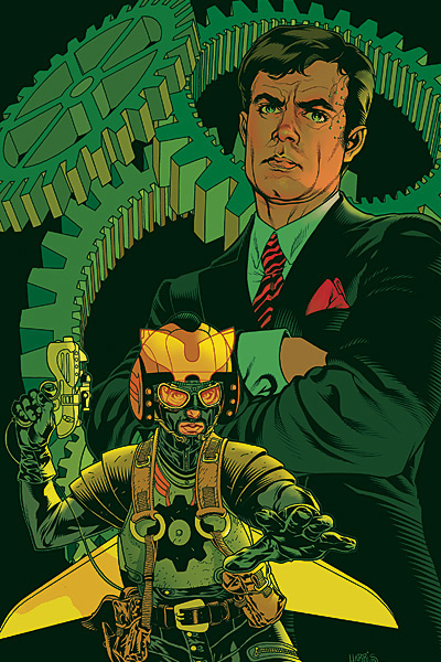 Mitchell Hundred AKA 'The Great Machine,' from Brian K. Vaughan's political superhero book EX MACHINA. Art by Tony Moore.