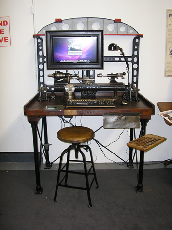 Steampunk Machinist Computer Workstation by Bruce Rosenbaum