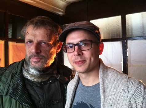 The Nostalgist Daniel H Wilson Lambert Wilson on set