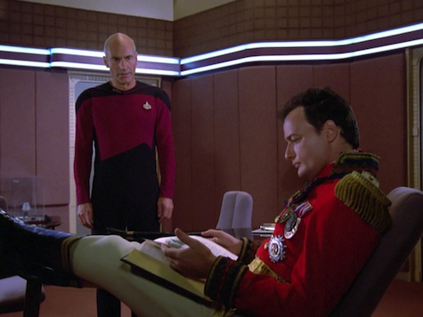 Picard and Q and Shakespeare