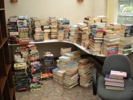 Amanda's pile of books