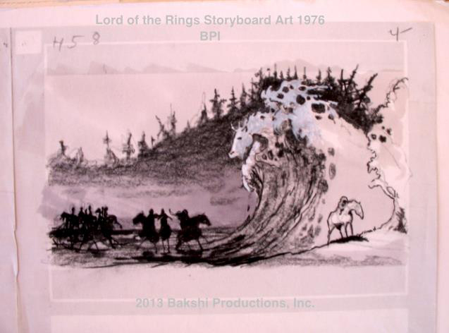 Production art from Ralph Bakshi's Lord of the Rings