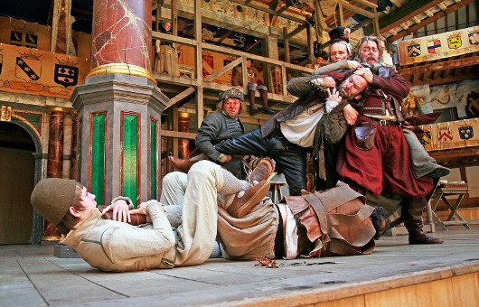 When agents are sent to arrest Falstaff for debt, it can feel like justice or be another hilarious triumph of physical comedy.