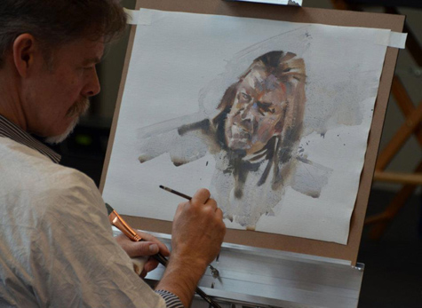 Greg Manchess paints Ned Stark