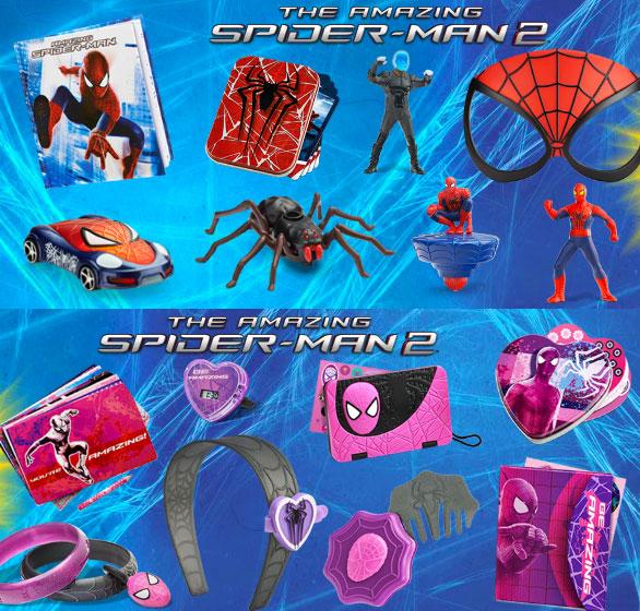 McDonalds Spider-Man 2 toys