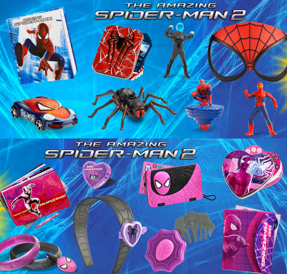 McDonalds Spider-Man 2 toys