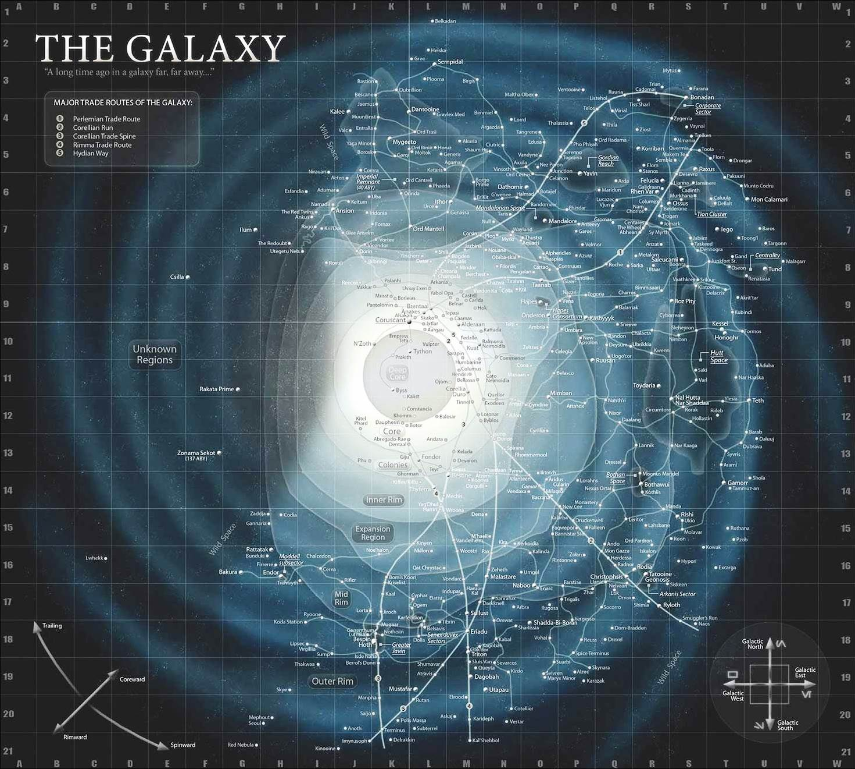 Star Wars galaxy map Essential Atlas