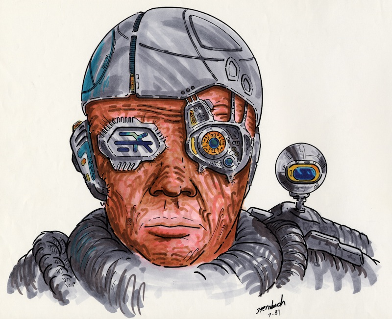 Borg concept drawing by Rick Sternbach